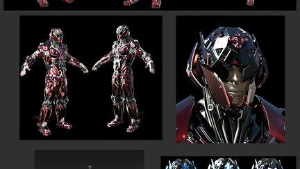 Male  mech Cyborg.