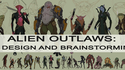 ALIEN OUTLAWS: Design and Brainstorming GUMROAD TUTORIAL