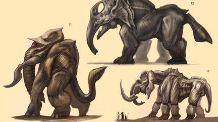 Majestic Alien Elephant - concept sketches - w.i.p.
