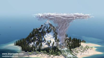 Island and Golfballs Tornado