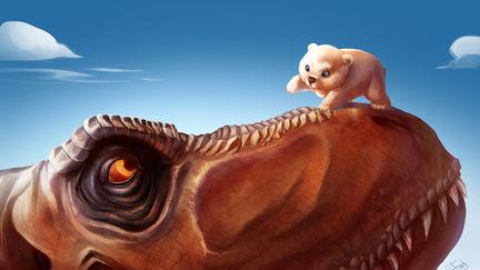 T-Rex and the Polar Bear cub