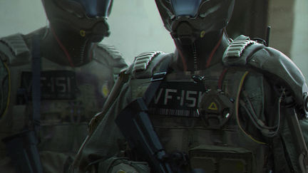 Concept Sci fi helmet