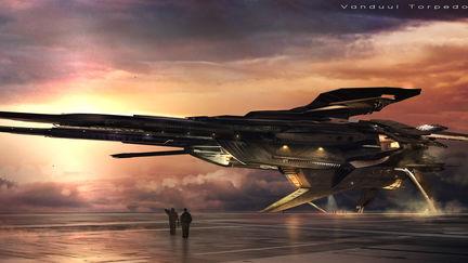Vanduul Bomber - landed