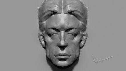 Symmetrical head sculpture
