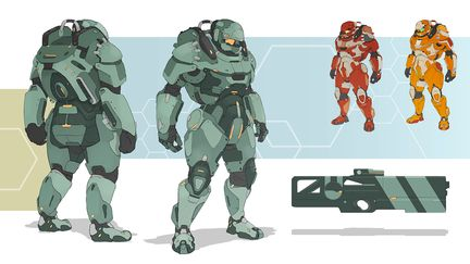 Heavy armor siut. Concept