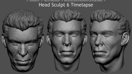 Head Sculpt 6 Timelapse