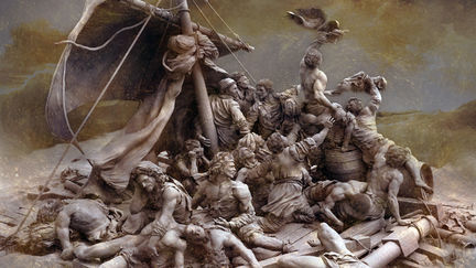 The Raft of the Medusa painting by Théodore Géricault  part II