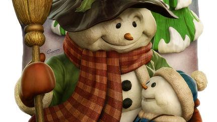 Snowman & Child