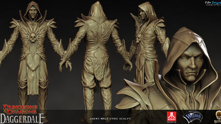 Zhent Male Cyric sculpt