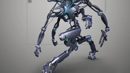 Droid based on polymer muscles - concept