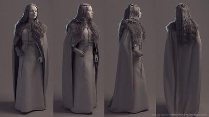 Sansa Stark Character Design Illustration Digital Art