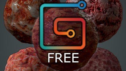 Free 4K Organic Materials Pack