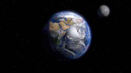 Planet Earth and his friend