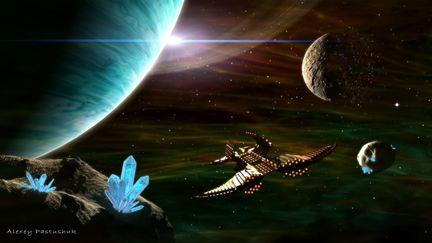 Flight for crystals of Tiradium...