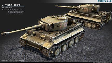 3D Tank - Tiger1