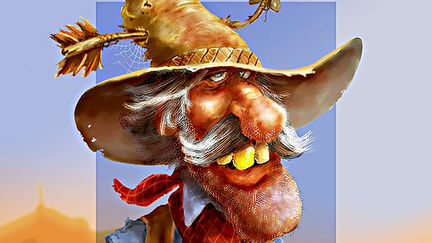 Cowboy Caricature (in-progress video)