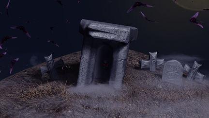 Halloween Haunted Cemetery WIP