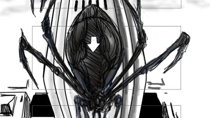 spider vfx storyboard page 1