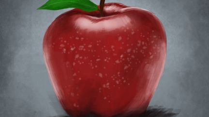 Portrait of an apple