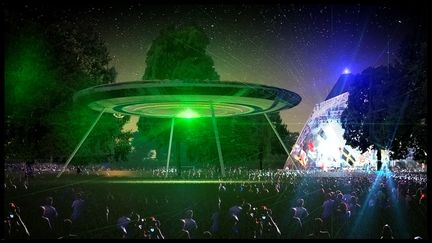 Festival interactive ufo landing point
