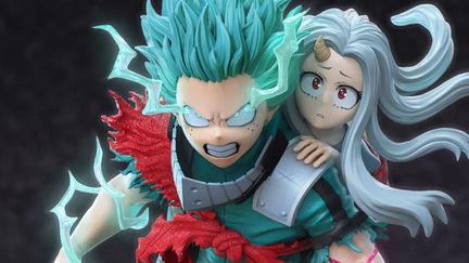 BNHA Midoriya and Eri Full Cowl 100% - Fanmade Statue