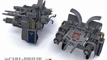 The Carl-Philip recoilless wheelbarrow rifle