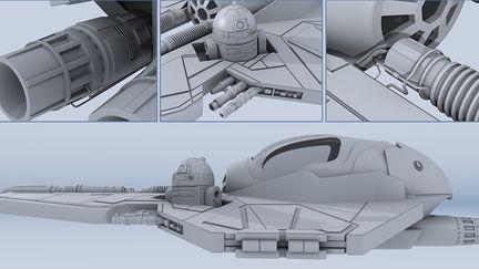 Jedi Starfighter Model 1