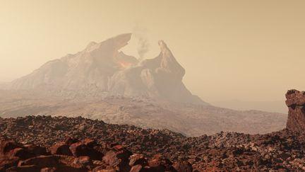 Martian Volcano - Space Command