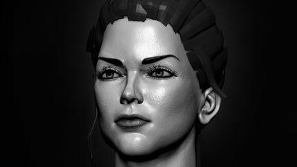 Lady face Art Design