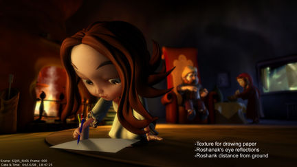 """Baran"" short film  environment renders"