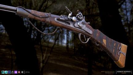 Robertberrier flintlock rifle 1 704918ed ml7v