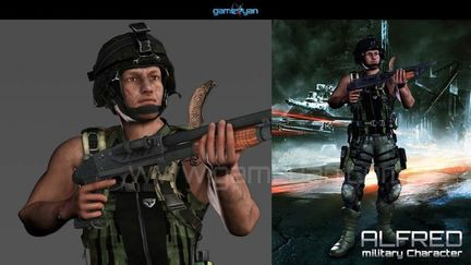 3D Military Mascot Character Design by Gameyan game development companies - San Francisco, USA