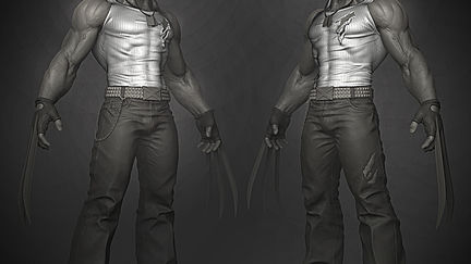 Wolverine for Comicon challenge WIP