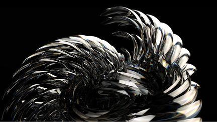 Glass Anemone Abstract Rendering