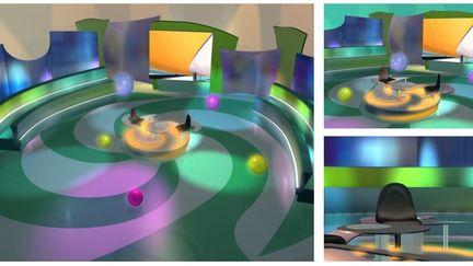 """Clueless"" tv gameshow - Lefta sta tyfla (in greek) 3d set design"