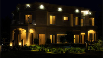 Private Residence At Night..