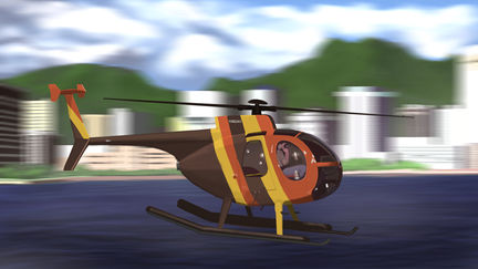 Magnum P.I. MD500D helicopter