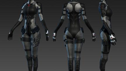 Cyborg girl WIP