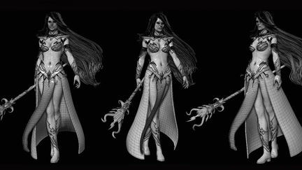 Dark Elf Sorceress : Warhammer :The Age of Reckoning Cinematic