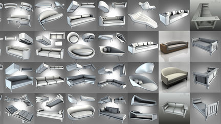 3D Models for Architectural Visualization and Interior Design Part 4 Sofas, Lounges, and Settees