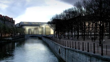 New Entrance Building, Berlin, night shot