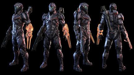 Mass Effect N7 Soldier turntable ( fan art )