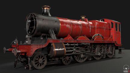 GWR 4900 Class 5972 Olton Hall (Hogwarts Express Fan Art)