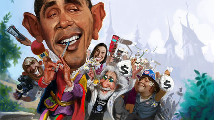 Obamaas Pied Piper leading out all the special interests