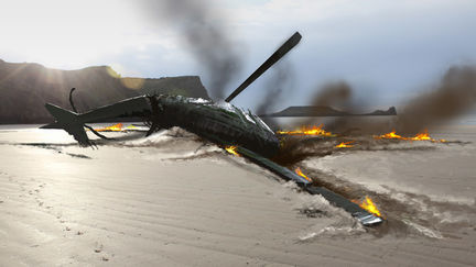Torchwood: Miracle Day Helicopter Crash