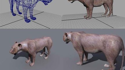 Lioness Low Poly