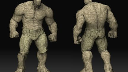 The Hulk - wireframe