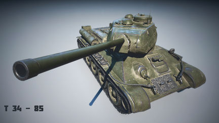 T34-85 Russian tank