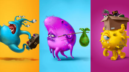 Character design for a advertising campaign