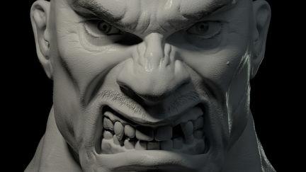 Super-high-detail male head modeling